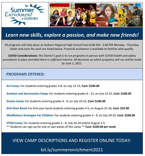 Summer Enrichment Camps 2021
